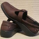 Комфортные легкие кожаные туфли темно-бордового цвета Hotter. Англия. 37 р.