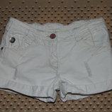 шорты джинс белые 10лет 140см хб стрейч Некст джинс