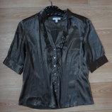 Снизила цену Атласная блуза шоколадного цвета М- Л размера