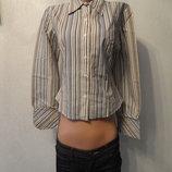 Рубашка, блузка в полоску длиный рукав 44 46р