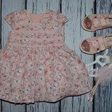 12 - 18 месяцев Обалденное фирменное нарядное очень пышное платье сарафан бабочки