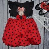 3 - 4 года 98 - 104 см Очень нарядное романтичное пышное платье сарафан моднице минни маус Minnie