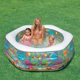 Intex 56493 191х178х61 см. Детский надувной бассейн Океанский риф