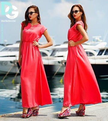 Платье длинное из штапеля
