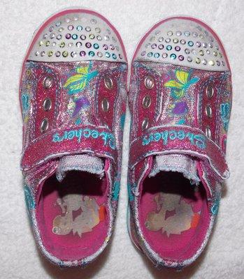 Светящиеся блестящие кеды-кроссовки Skechers на девочку - 24 размера, 15 см  стелька 34dee4bb0f8