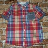 рубашка тениска хб мальчику 8 лет Сток большой выбор одежды 1-16лет