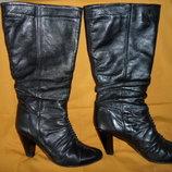 сапоги женские кожаные демисезонные 36 размер