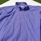 Giardoni. Итальянская фиолетовая рубашка с длинными рукавами и перламутровыми пуговками.