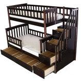 Кровать детская Максим натуральное дерево массив