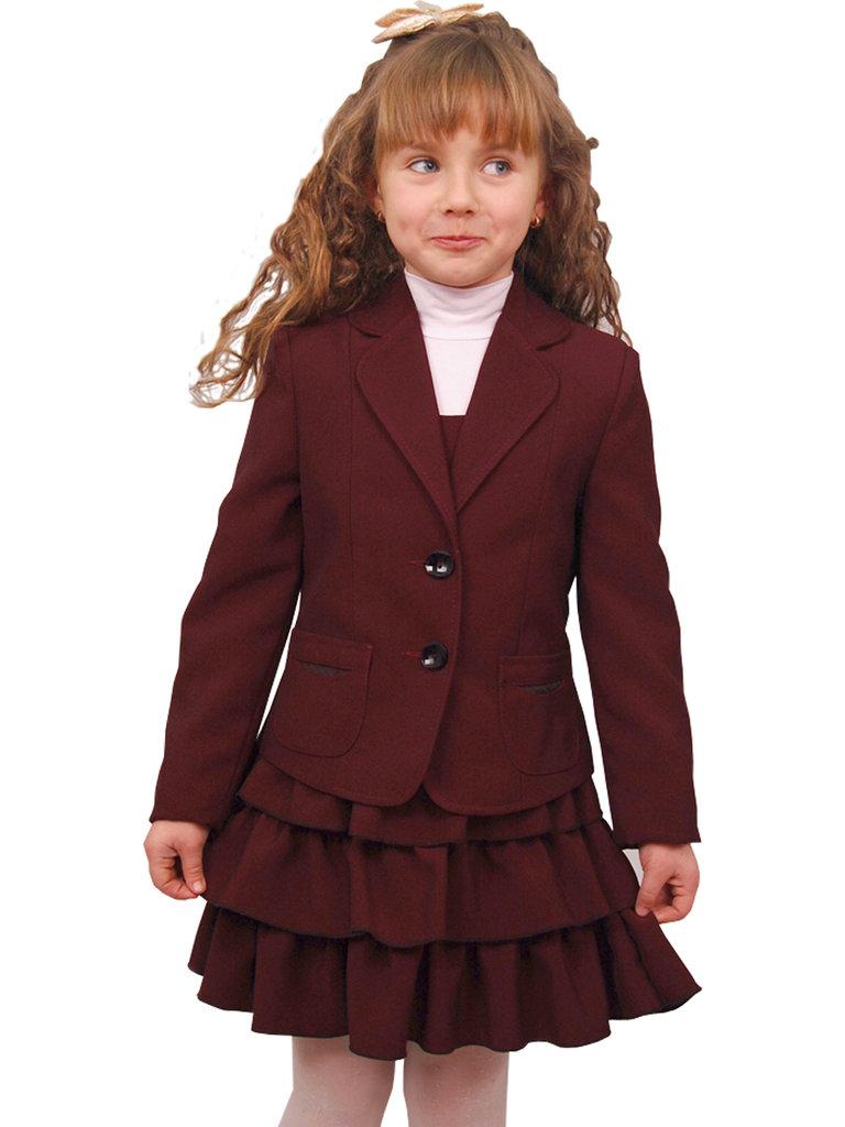 Школьная форма для девочки бордового цвета