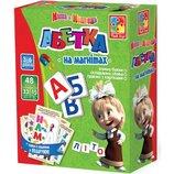 Абетка и азбука на магнитах с Машей VT3305-01/2 vladi toys Влади тойс
