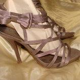 босоножки сандалии туфли Gorgeous 39 р стелька 25 см текстиль Louis Vuitton Burberry Gucci