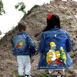 Джинсовка джинсовая куртка стильная М-L
