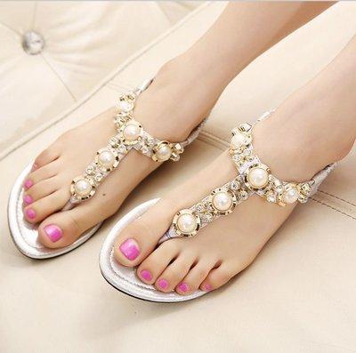 босоножки женские SEXI сандалии на танкетке каблуке жемчуг летние
