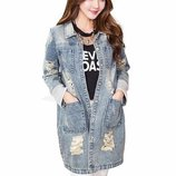 куртка женская джинсовая SEXI ветровка джинсовый пиджак