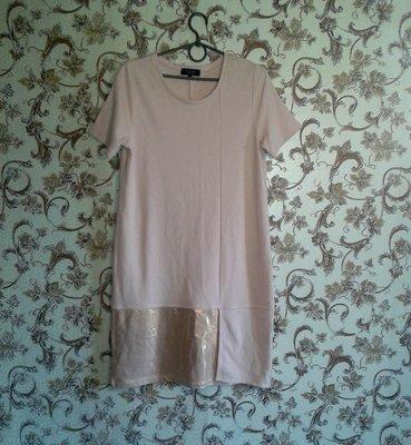 Скидка Нежное стильное платье цвета пудры