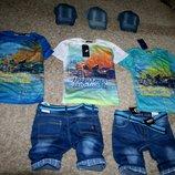3D футболки. капри . стильные двойки