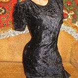 Шикарное бархатное платье, р.44, почти новое