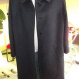 Пальто темно-синее-- демисезонное