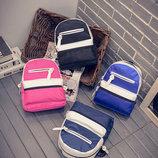 Милый двухцветный тканевый рюкзак