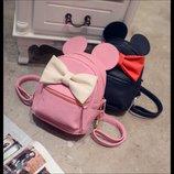 Милый Мини Маус рюкзак с бантиком и ушками В Наличии