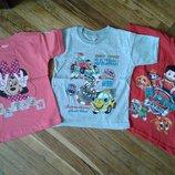 Детская футболка Щенячий патруль, Минни, Гонки. Турция. Размеры 1, 2, 3, 4.