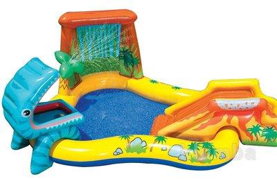 Надувной игровой центр - бассейн Динозавр Intex 57444, Интекс