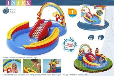 Бассейн 57453 надувной игровой центр Радуга Intex 57453 Интекс, басейн дитячий