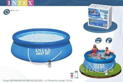 Надувной Бассейн Intex 28112 244x76см с фильтр-насос 56972