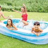 Бассейн 56483 детский надувной Intex Интекс прямоугольный, басейн дитячий