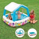 Бассейн 57470 надувной детский Intex Интекс, басейн дитячий с навесом