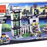 Детский конструктор 129 Полицейский участок, Полиция, Brick , 589 деталей