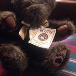 шикарный шарнирный коллекционный мишутка Boyds Сша оригинал винтаж 28 см