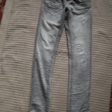 Стильные рваные серые узие джинсы The Crafted seal of approval 30 L