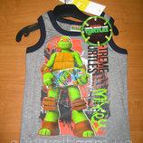 Детская летняя майка для мальчика Черепашки ниндзя 3-8 лет, Ninja Turtles