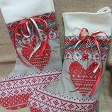 Сапожок от Санта Клауса для подарков, конфет, печенья