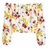 Блузка H&M бохо цветы 46-48 EUR42 оригинал мега стильно акция