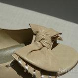 Кожаные босоножки Ralph Lauren. Оригинал