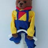 Кукла игрушка флокированный мишка Тайвань клеймо