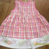 Красивое платье с вышивкой на 6 - 9 мес, рост 74 см