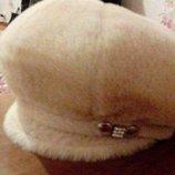 Зимняя шапка - кепка - берет