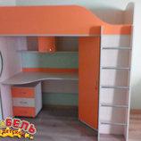 Кровать-Чердак с рабочей зоной и угловым шкафом к11-3 Merabel