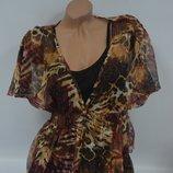 Блуза шифоновая с майкой, пляжная туника