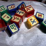 Алфавит кубики игрушки- пасочки в песочницу все что на фото