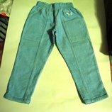 брюки вельветовые на 2-5 лет Длина 64 см, нежно бирюзовый цвет, джинсы