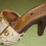 Босоножки сабо шлепанцы на каблуке