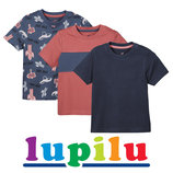 Набори з 3-х футболок для хлопчиків 1-6 років фірми Lupilu Німеччина