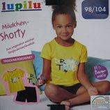 Комплект шорты футболка Lupilu Германия р.98-104
