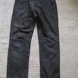 Мощные кожаные джинсы из промасленного нубука темно-коричневого цвета.