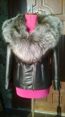 Куртка косуха из натуральной кожи и натуральным мехом чернобурки ... 987d416497fcf